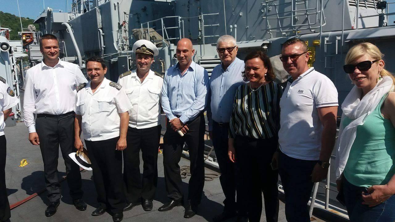 """Бургаските народни представители от """"БСП за България"""" и ГЕРБ посетиха Военноморска база Атия"""