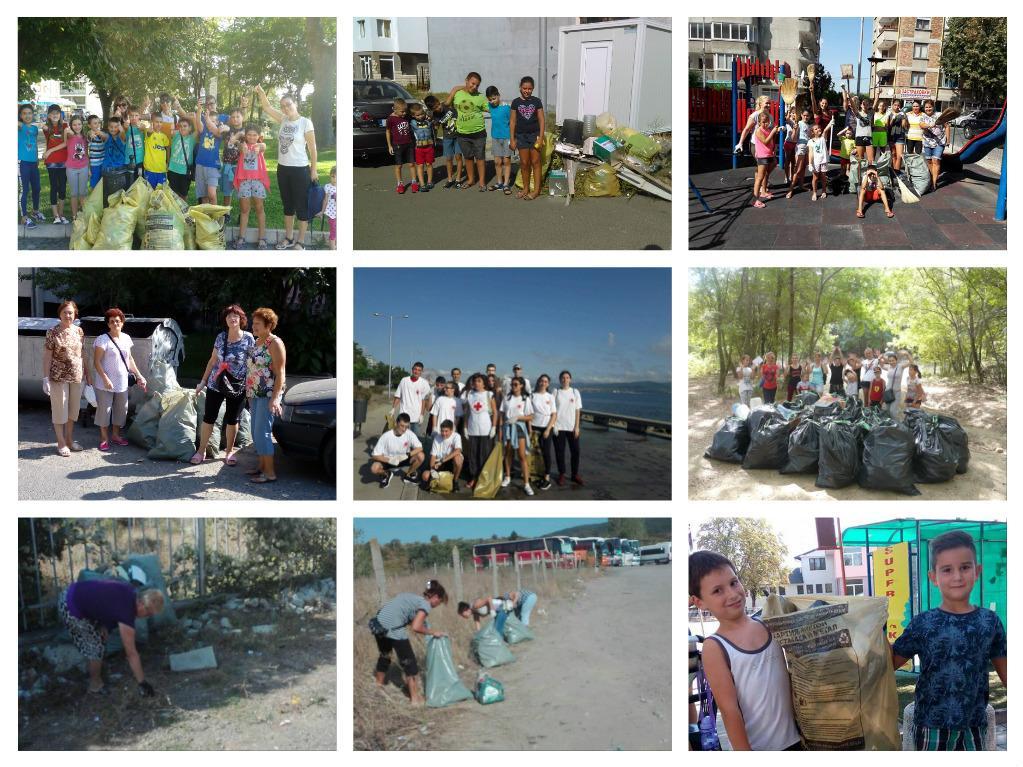 181 доброволци от Община Несебър събраха 74.283 тона битов отпадък в еко кампания