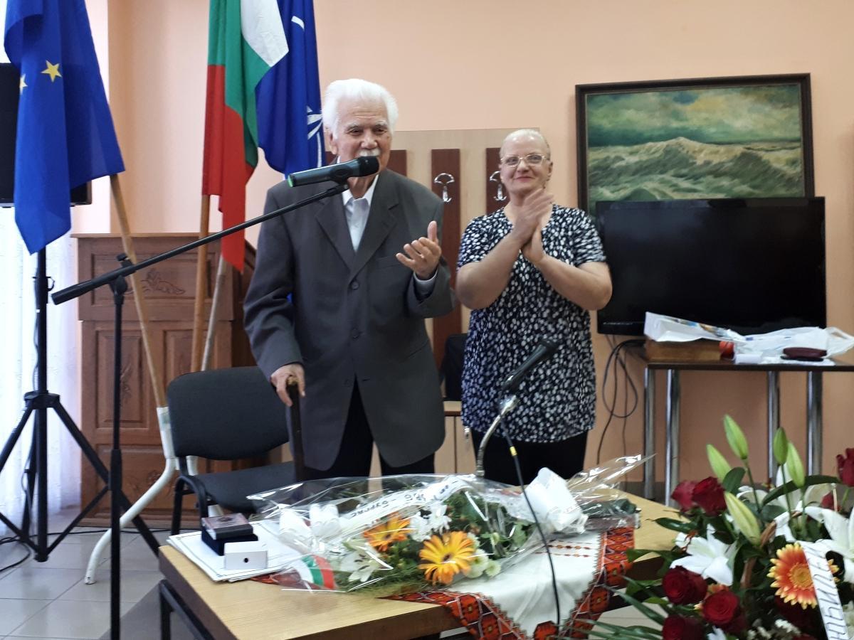 Столетник-ветеран от ВСВ отпразнува вчера своя юбилей в Бургас