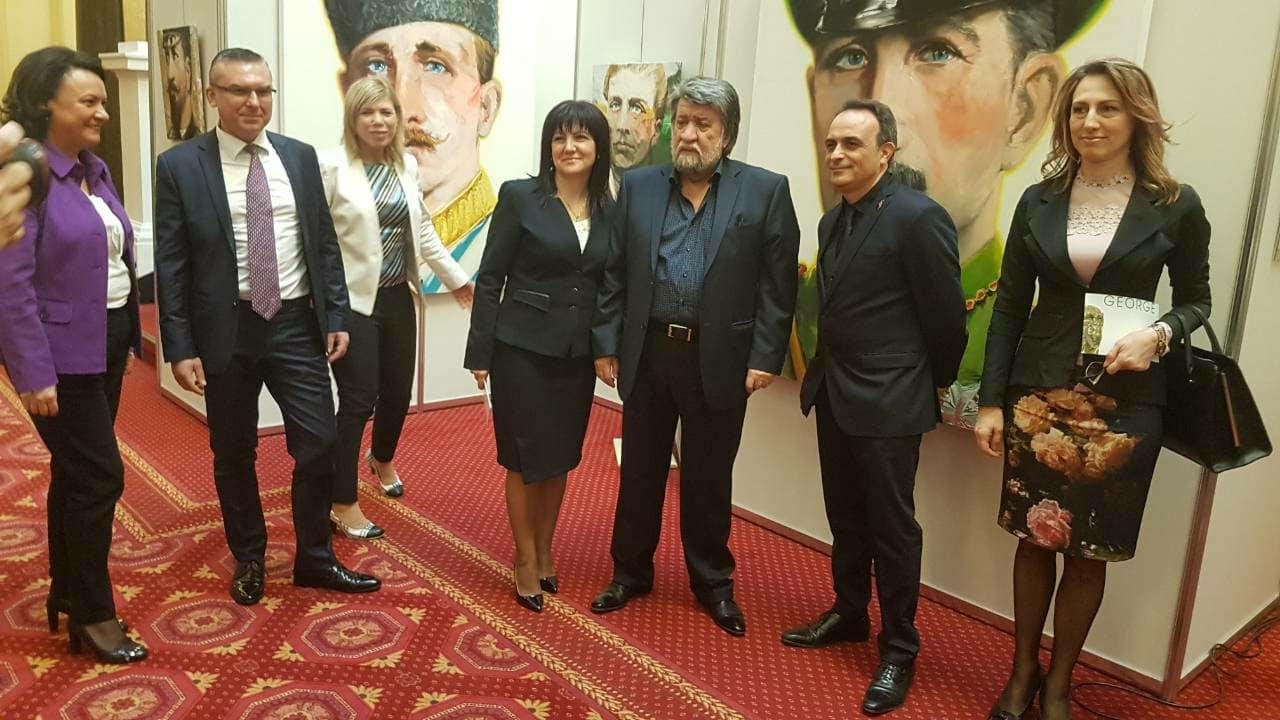 16 портрета от бургаски художник ще красят  Народното събрание