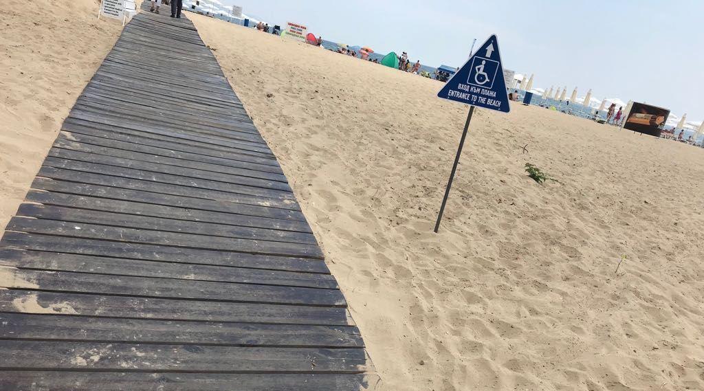 Централният плаж в Слънчев бряг е достъпен за инвалиди