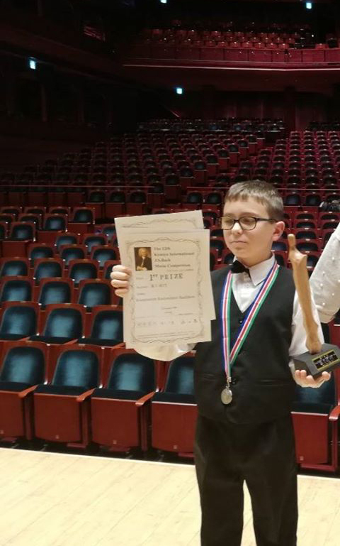Несебърски ученик с четири награди на престижен конкурс в Япония