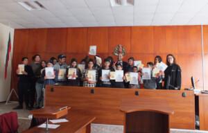 Ученици от Община Несебър участват в симулиран съдебен процес