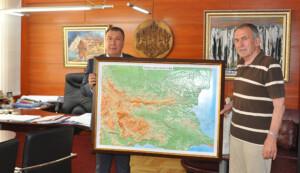 Новата релефна карта на България  в Община Несебър